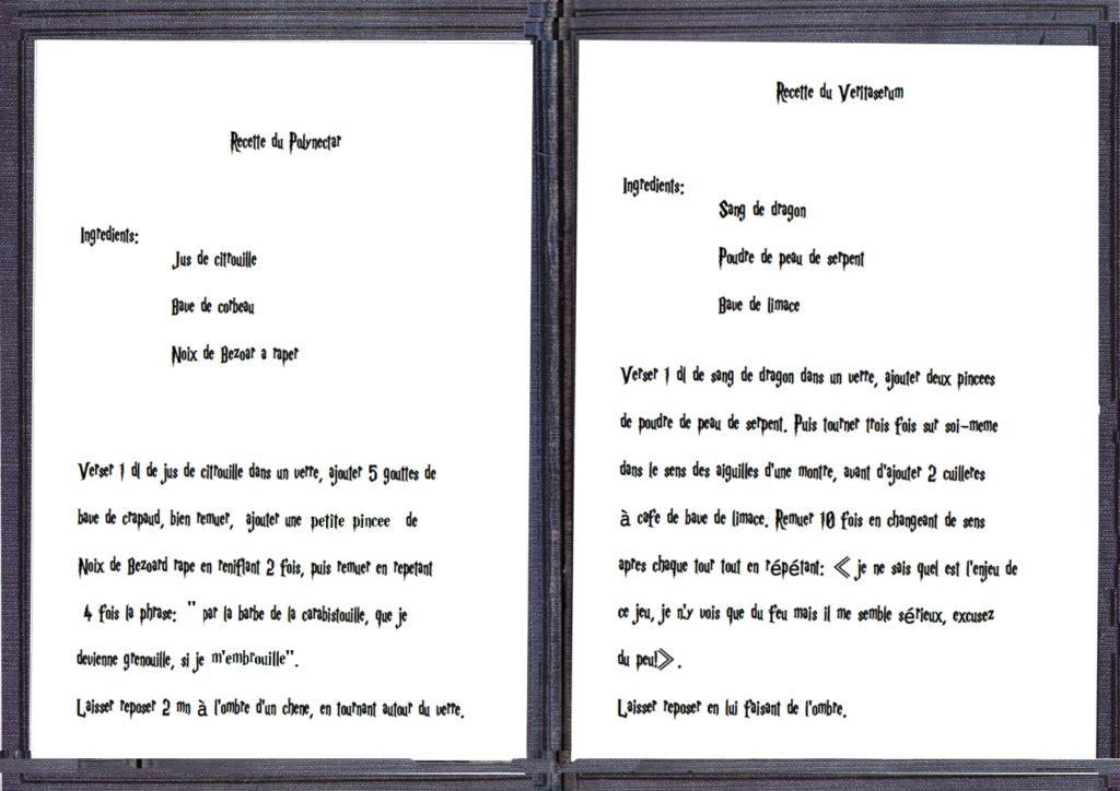 Recettes 3 et 4