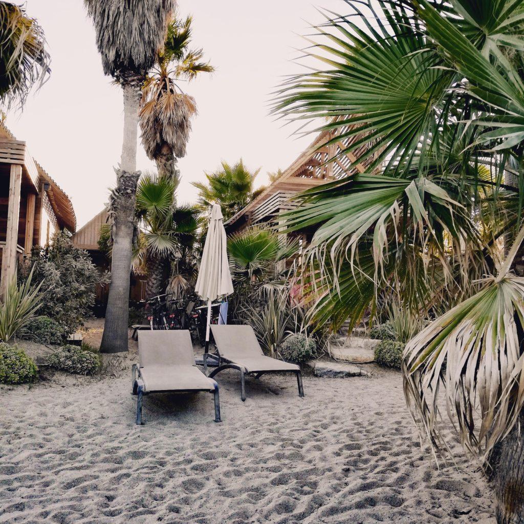 Les lodges à la plage