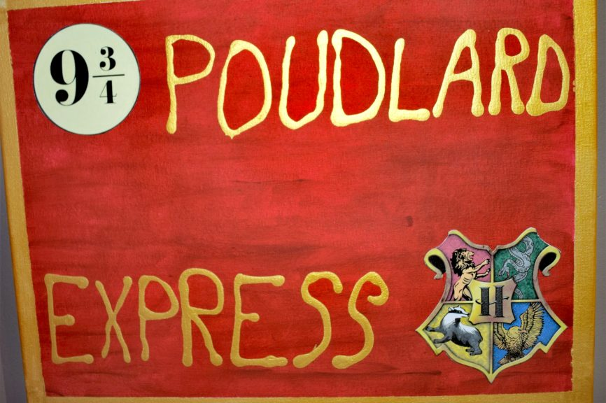 Toile Poudlard Express DIY