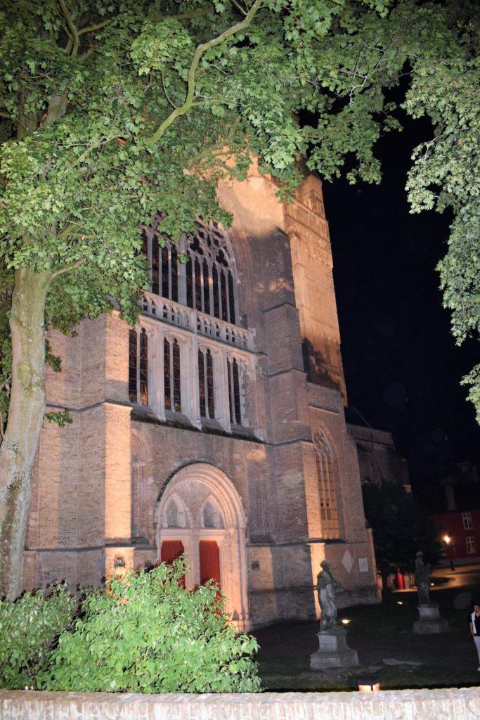 La cathédrale Saint Sauveur by night