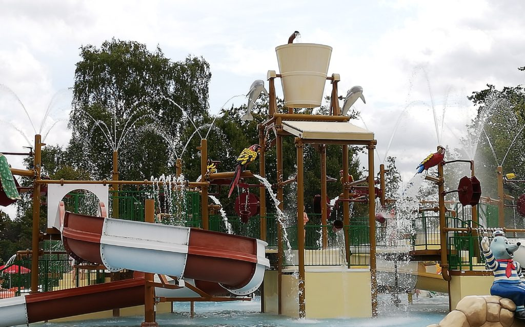 L'aire de jeux aquatiques