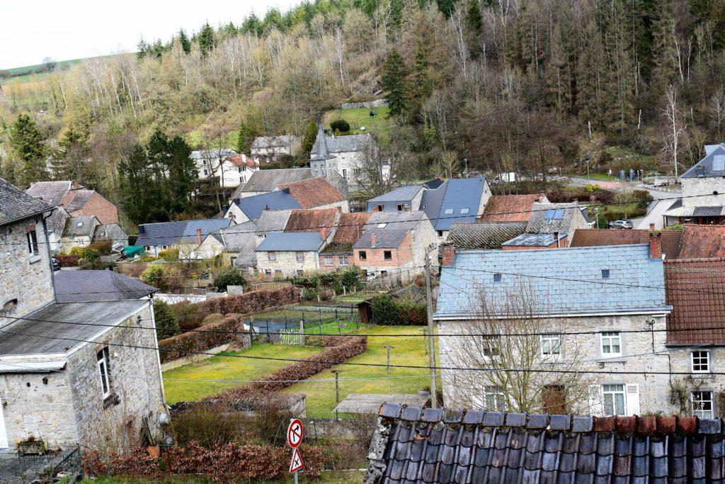 Le village de Maredret vu d'en haut
