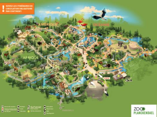 La carte du parc